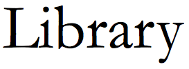 The word Library in Garamond regular font
