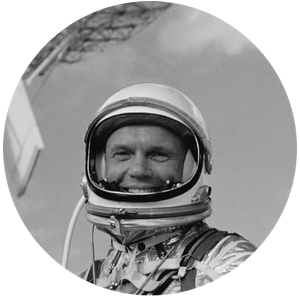 John Glenn before the Friendship 7 flight, courtesy of NASA