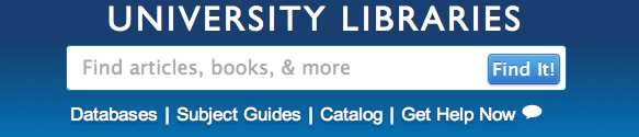 Summon Search Box at Grand Valley State University Libraries