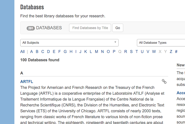 Database A-Z Weirdness